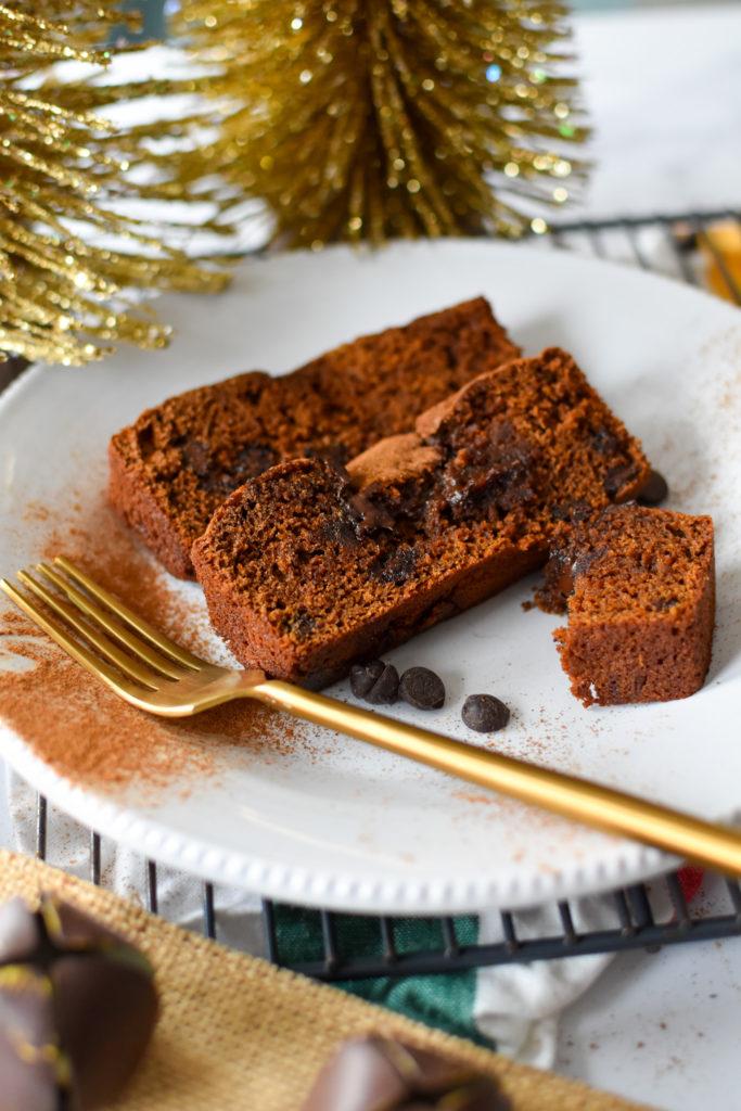 Healthy Dark Chocolate Gingerbread Loaf Gluten Free